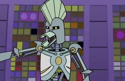 Cybernetic Ghost Of Christmas Past From The Future.Aqua Teen Hunger Force Cybernetic Ghost Of Christmas Past